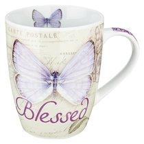 Ceramic Mug: Blessed Butterfly Purple