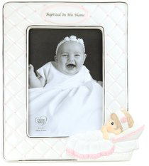 Precious Moments Photo Frame: Girl, Baptized in His Name