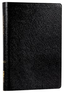 NIV Compact Thinline Reference Bible Black (Red Letter Edition)