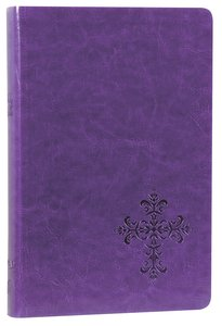 NKJV Personal Giant Print Reference Bible Purple (Red Letter Edition) (Essentials)