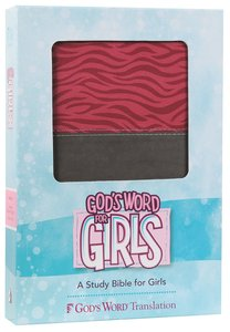 Gods Word For Girls Pink/Silver, Zebra Print Design Duravella
