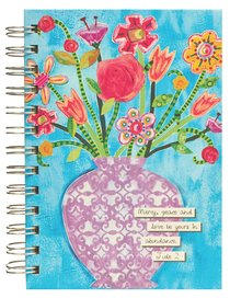 Spiral Journal: Mercy, Peace and Love Be Yours, Jude 2 Hardcover (Flowers In Vase)