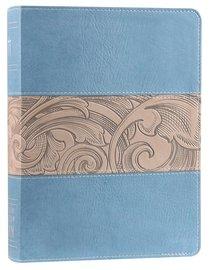 KJV Holman Study Bible Blue Taupe