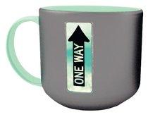 Jumbo Ceramic Mug: One Way (Psalm 27:11 NIV) (Grey/turquoise)