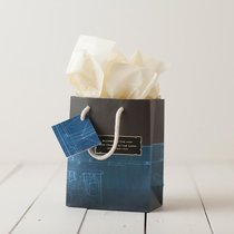 Gift Bag Small: Noble Blueprint (Incl Two Sheets Tissue Paper & Gift Tag)