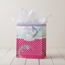 Gift Bag Medium: So True Polka Dot (Incl Tissue Paper & Gift Tag)