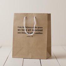 Value Gift Bag Medium: Craft Brown (John 1:16)