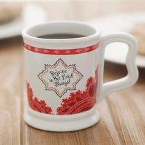 Pillar Mug: Bandana Red/White
