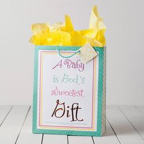Gift Bag Large: Bright Baby (Incl Tissue Paper & Gift Tag)