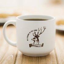 Jumbo Ceramic Mug: Strong (Eph 6:10 NIV) (White/deer)