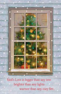 Christmas Boxed Peek Thru Window Cards: Gods Love (Psalm 63:3 Niv)