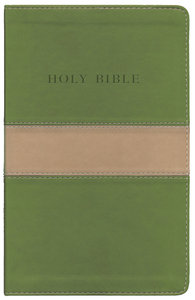 KJV Personal Size Giant Print Reference Bible Tan/Olive