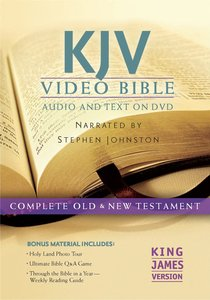 KJV Video Bible Narrated By Stephen Johnston (Audio And Text On Dvd Voice Only)