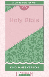 KJV Kids Bible Pink/Green Flexisoft