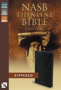 NASB Thinline Zippered Large Print Bible Black