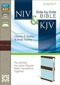 NIV KJV Side By Side Bible Compact Chocolate/Turquoise