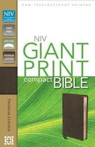 NIV Compact Giant Print Bible Brown