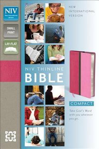NIV Compact Thinline Bible Hot Pink/Bubble Gum Duo-Tone (Red Letter Edition)