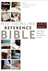 NIV Thinline Reference Large Print Hardcover (Red Letter Edition)
