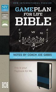 NIV Game Plan For Life Bible Black/Blue (Black Letter Edition)