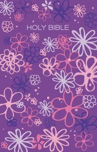 ICB Gift & Award Bible Purple Flowers (Black Letter Edition)