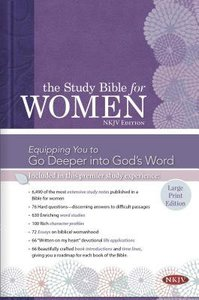NKJV Large Print Study Bible For Women Indexed