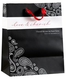 Gift Bag Medium: Mr & Mrs (Incl Tissue Paper & Gift Tag)