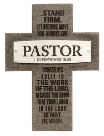 Plaque Cross: Pastor Badge of Faith (12cm X 15cm)