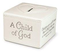 Baby Child of God: Money Box White (Psalm 127:3)
