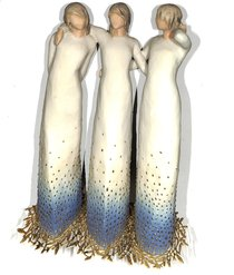 Willow Tree Figurine: By My Side (3 Women Standing Together) (Signature Collection Series)