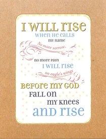 Boxed Notes Lyrics For Life: I Will Rise, Ephesians 3:20