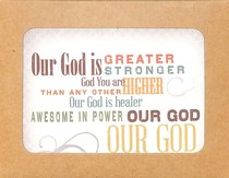 Boxed Notes Lyrics For Life: Our God is Greater, Stronger, Philippians 4:13