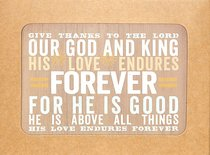 Boxed Notes Lyrics For Life: Forever, Psalm 107:31