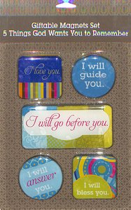 Magnetic Set of 5:5 Things God Wants You to Remember