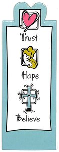 Magnetic Bookmark: Trust, Hope, Believe