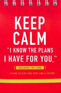 Wirebound Notepad: Keep Calm, Red