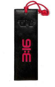 Bookmark Luxleather Tassel: Eternal Life, Black/Orange