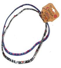 Stretch Headbands: Zebra & Crosses (2 Pack)