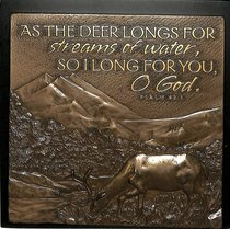 Plaque: Deer Long For You Moments of Faith (15cm X 15cm)