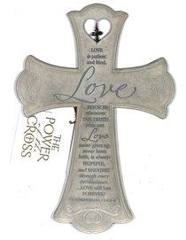 Wall Cross: Love is (26cm X 18cm)