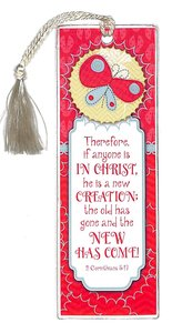 Bookmark Tassel: Therefore If Anyone is in Christ...