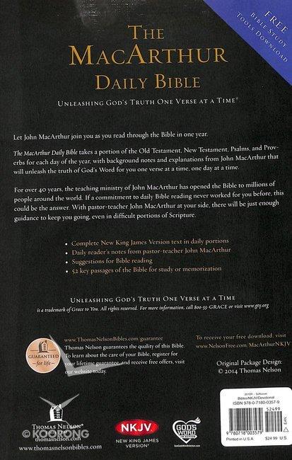 NKJV Macarthur Daily Bible (Black Letter Edition)