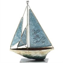 Sailboat Metal: Be Still and Know.. Psalm 46:10 (Blue)