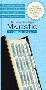 Majestic Bible Tabs Blue Floral