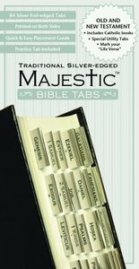 Majestic Bible Tabs Traditional Silver-Edged