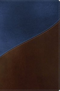 NKJV Giant Print Center-Column Reference Bible Blue/Brown (Red Letter Edition)