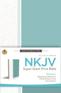 NKJV Super Giant Print Reference Bible Blue/White Cloth (Red Letter Edition) (Classic Series)