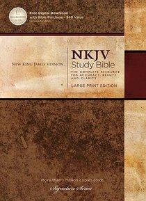 NKJV Study Bible Large Print (Black Letter Edition)