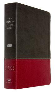 NKJV Jeremiah Study Bible Charcoal/Burgundy Leatherluxe