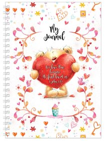Softcover Journal: Teddy With Heart, We Love Him, 1 John 4:19
